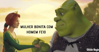 MULHER BONITA COM HOMEM FEIO